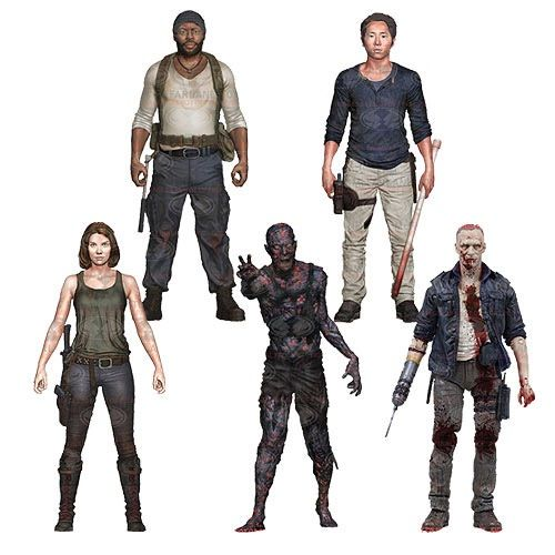 The Walking Dead Series 5 Figures Include Tyreese, Merle, BBQ Zombie, Glenn, and Maggie