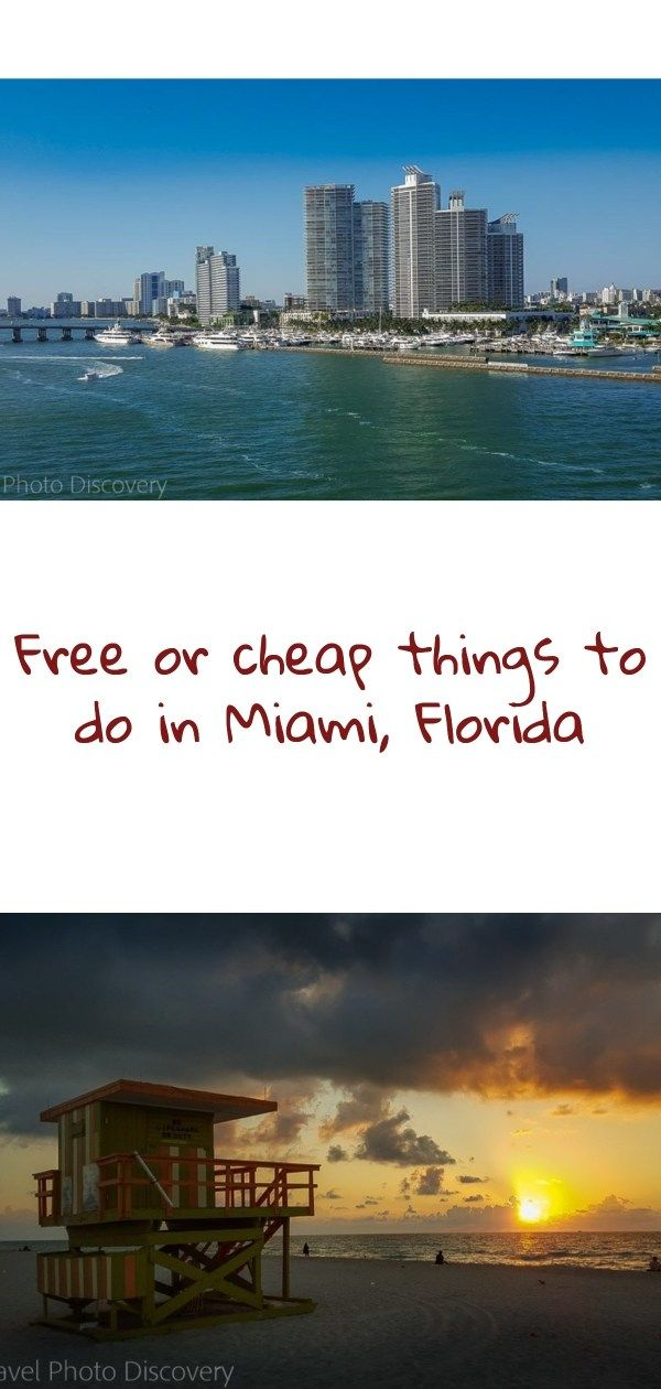 Free Or Cheap Things To Do In Miami Cheap Things To Do Usa Travel Destinations Travel Usa