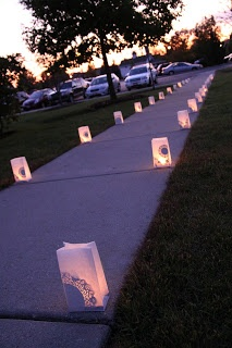 luminaries leading up to the dinner part of my wedding