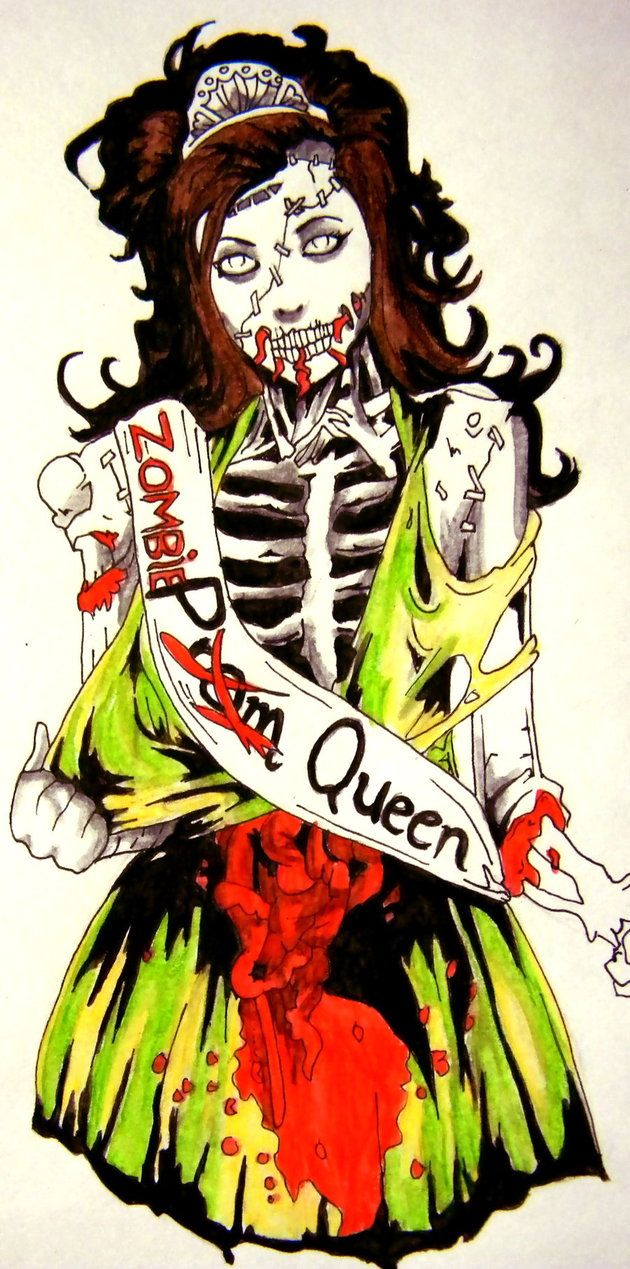 Zombie Prom Queen by ~fireandthefury on deviantART