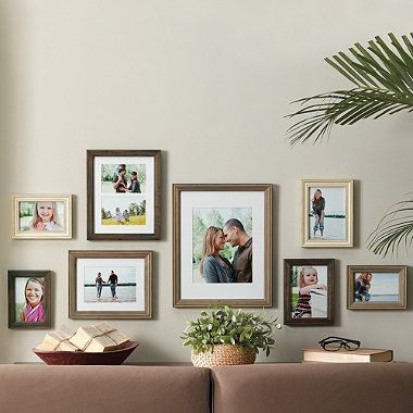 wall solution 8 piece gallery frame set in assorted finishes and sizes bedbathandbeyond