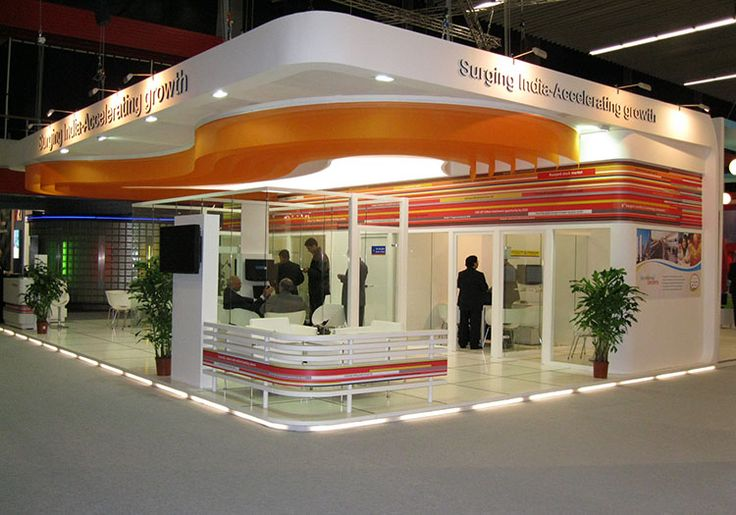 Custom Built Exhibition Stand Solution for Indian Banking Association (Surging india) at Netherlands. Know more about us at www.insta-group.com