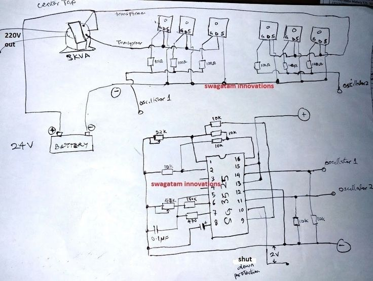 The post explains a sinewave 3    kva    inverter circuit using SG3525 IC and a IC555 PWM chopper