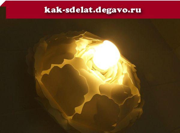 создание светильника белый пион своими руками