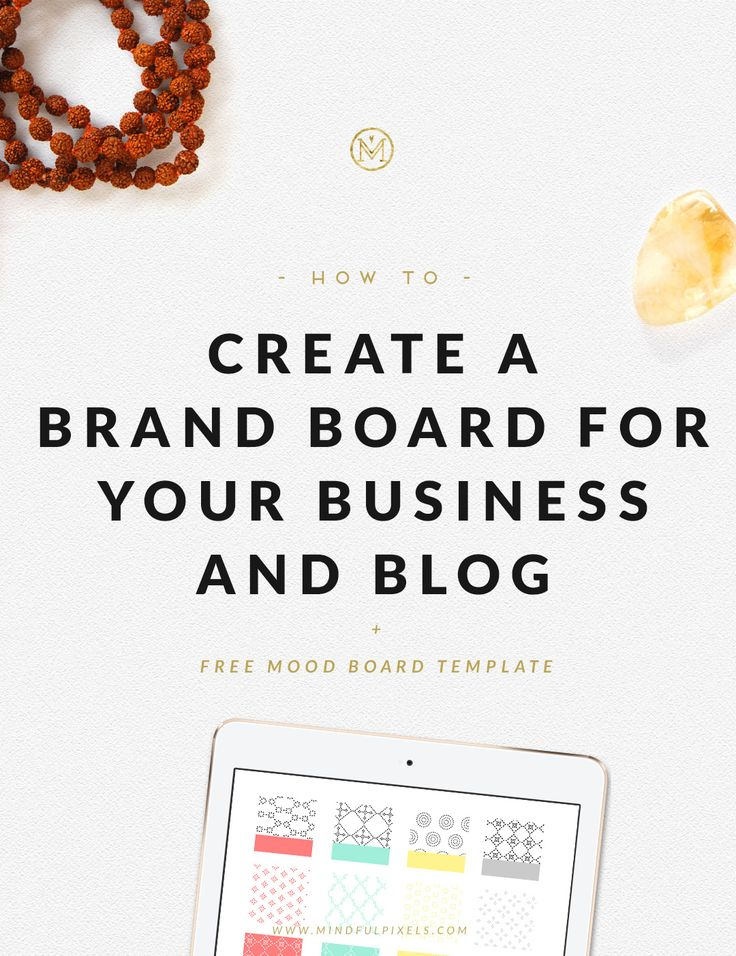This is the blueprint for your brand design. Today I'll show you how to create a brand board for your business and blog.