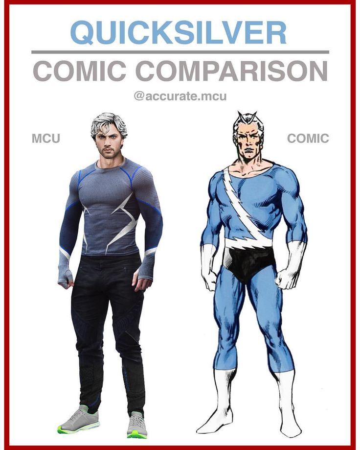 • QUICKSILVER - COMIC COMPARISON • As many of you requested. Pietro is one of my favorite mcu charac - accurate.mcu