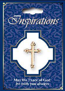 Inspirations Cross Brooch.