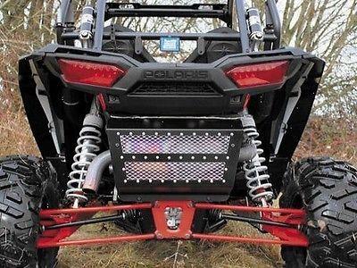 Modquad Exhaust Cover Black/silver For Polaris Rzr Xp 1000 Eps Le 2014 #atv #parts #exhaust #rzrex1k