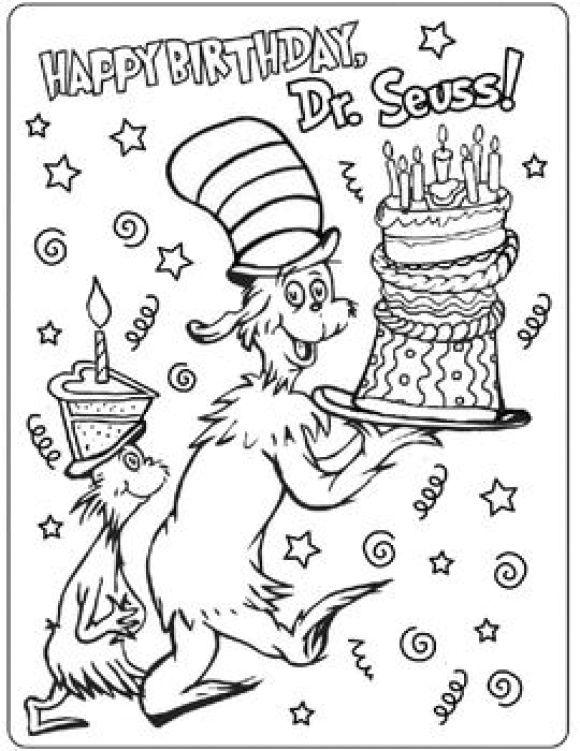 Dr Seuss Coloring Page Free Dr seuss coloring pages, Dr
