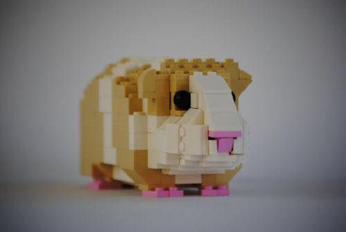A piggy made of Legos! I need to buy some Legos now. :)