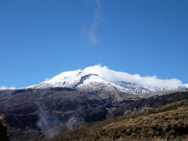 7 Volcanoes We Should Be Watching for Impending Eruptions - Colombia's Nevado del Ruiz When Nevado del Ruiz blew in 1985, it wiped the town of Armero off the map, killing 25,000 people. Now the notorious 17,457-foot stratovolcano, situated about 90 miles west of the capital Bogotá in Los Nevados National Natural Park—is again showing signs of unrest.