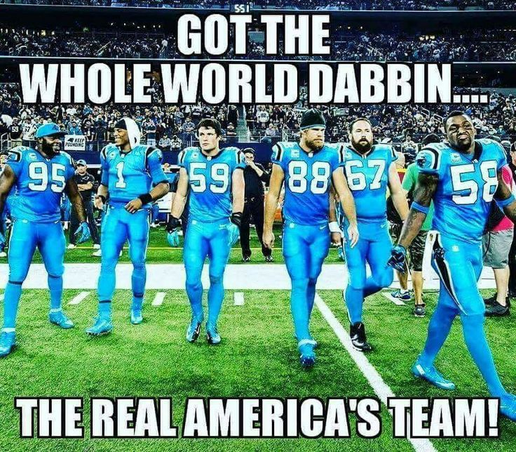 Got the world dabbin! #carolinapanthers #keeppouding #SheGreenville
