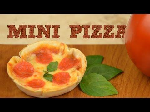▶ Mini Pizzas SIN HORNO Fácil | Receta para hacer pizzas en horno eléctrico o microondas - YouTube