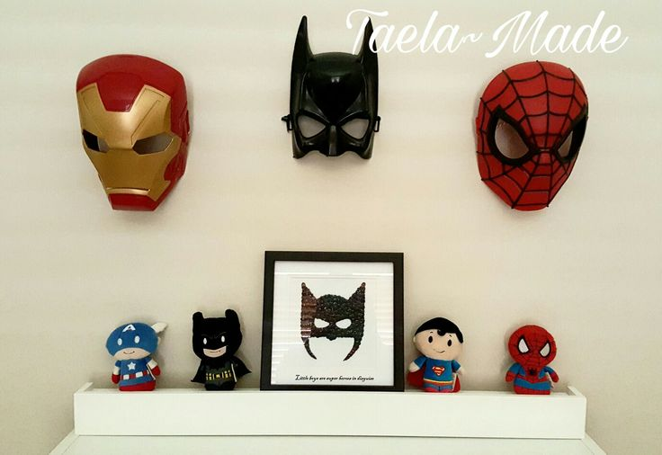 Super hero display wall for boys room. DIY craft for the home Taela-Made
