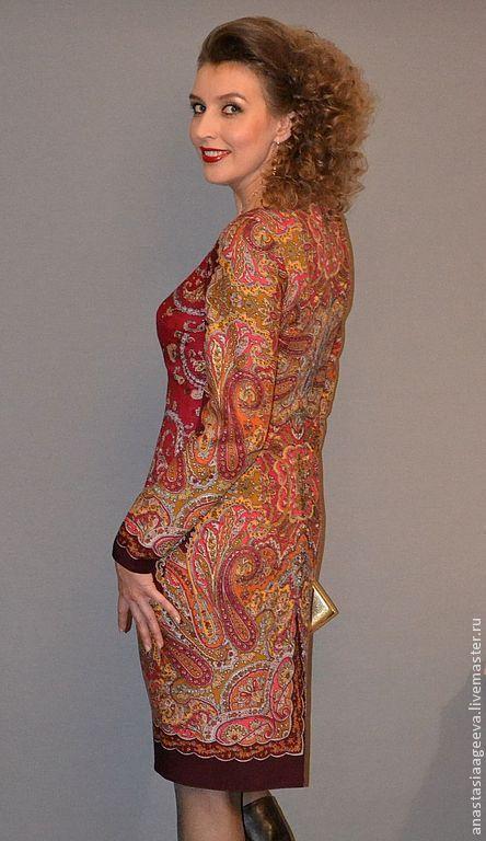 Платья ручной работы. Платье из платка