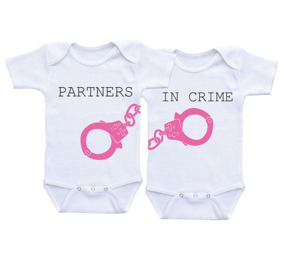 Twin Matching Outfits Partners in Crime Twin Baby geschenken