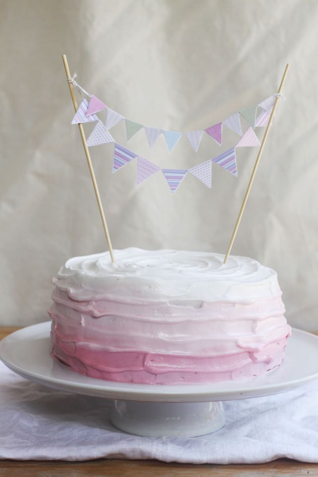 Four ingredient (gluten & dairy-free) birthday cake ...from http://www.emikodavies.com/