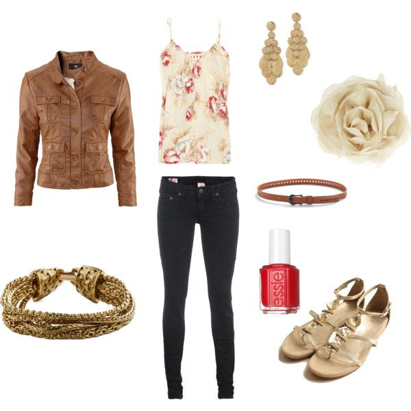 """""""Cream Floral,"""" created by karissa666 on Polyvore."""