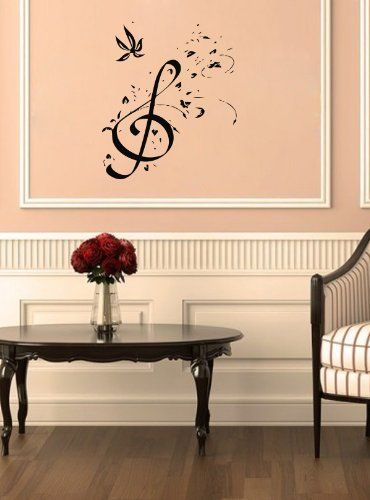 Best Music Wall Decals Images On Pinterest Music Wall Vinyl - Vinyl wall decals home party