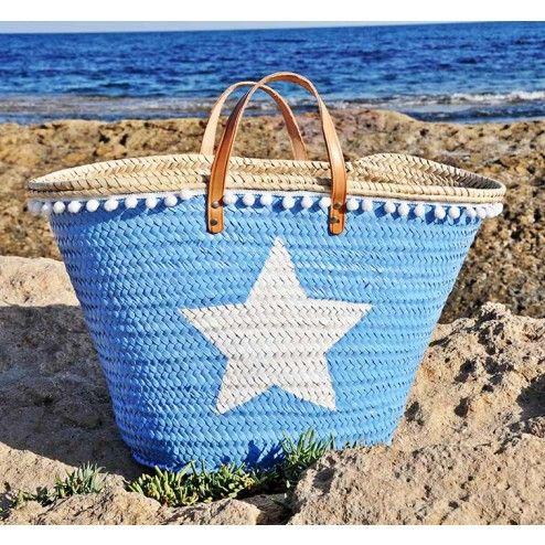 Capazo grande Estrella. Capazos pintados en Shoespanish
