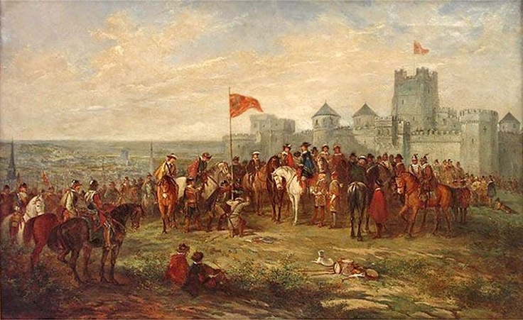 Painting of Charles I raising his standard at Nottingham on 25 August 1642.