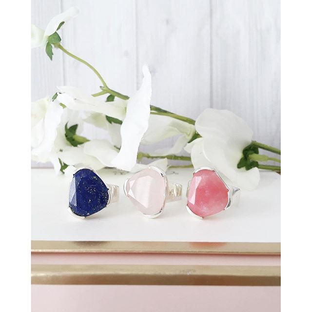 ooo now what do we have here? Which addition to the everyday Cocktail range would you like to see first? Left to right: Lapis lazuli, Rose Quartz and Pink Opal www.uberkate.com.au