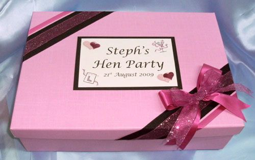 Hen party keepsake box