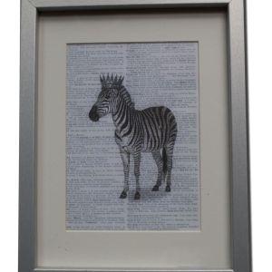 Cuadro con imagen de cebra en impresión digital enmarcado