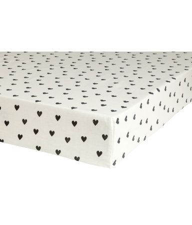 Product Detail | H&M US Love these cute and affordable monochrome sheets for toddler beds