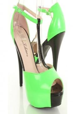 neon green & shiny