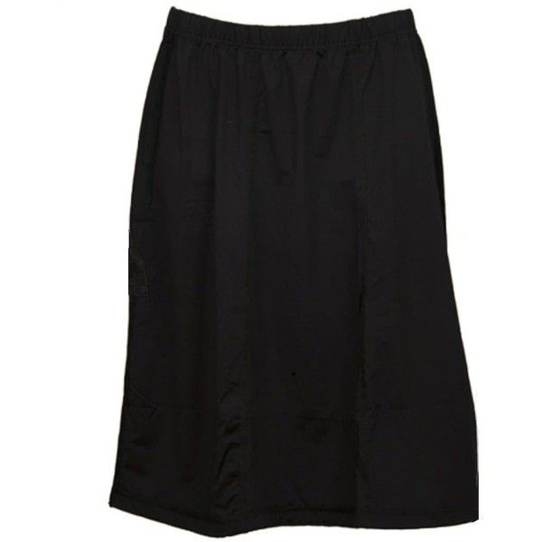 MarSea Modest Swim & Casualwear Modest Swim Skirt ($54) ❤ liked on Polyvore featuring swimwear, black, sports swimwear, swim skirtini, swim skirt, sport swimwear and swim wear