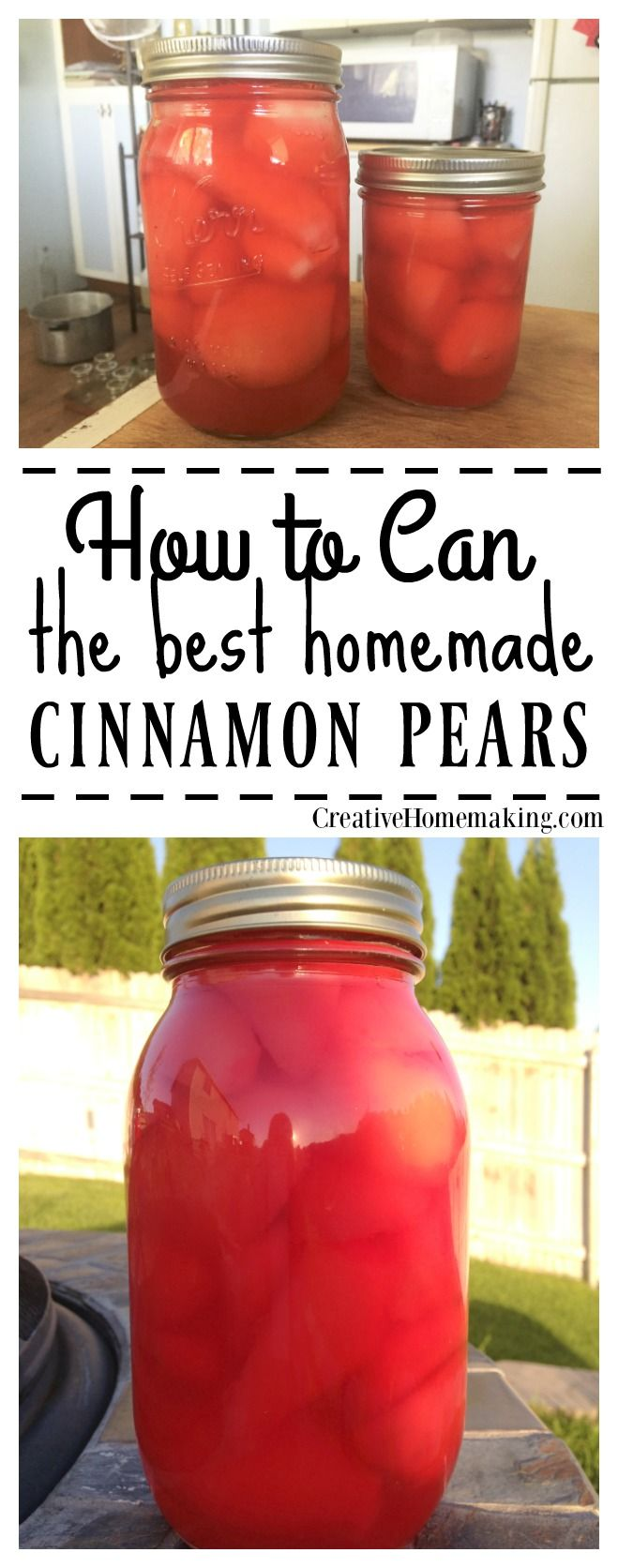 Adding red hots to canned pears gives fresh pears a nice cinnamon twist.