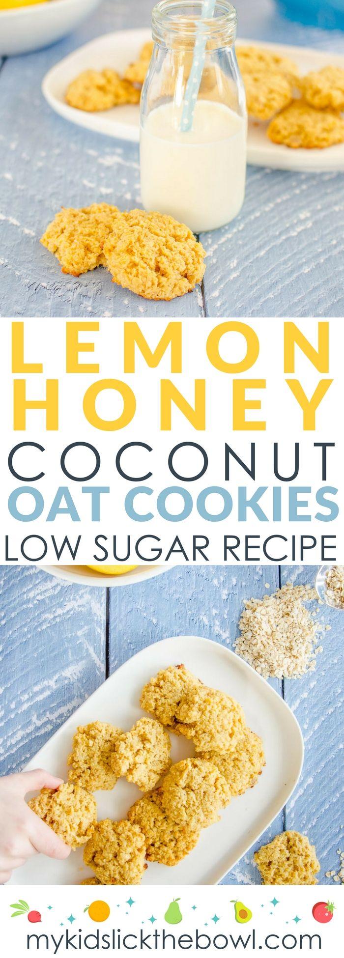 Lemon Coconut Oat Cookies - My Kids Lick The Bowl