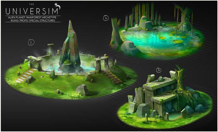 """Concept art for the game """"Universim"""", Dhruv Chakkamadam on ArtStation at https://www.artstation.com/artwork/concept-art-for-the-game-universim"""