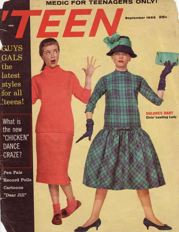 "Teen , 1958: ""What is the new 'Chicken' Dance Craze?"" 
