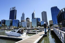 TWA-0044368 © WestPix A view of the Perth CBD from Elizabeth Quay today. Pic: Michael Wilson The West Australian