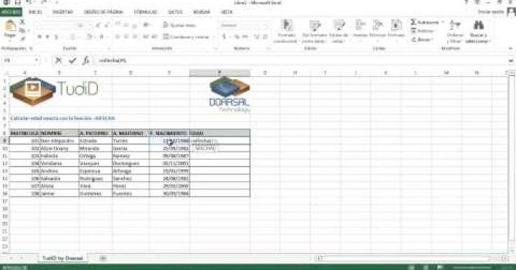 En este tutorial, te voy a enseñar a calcular la edad exacta de las personas utilizando la función =sifecha en Excel.