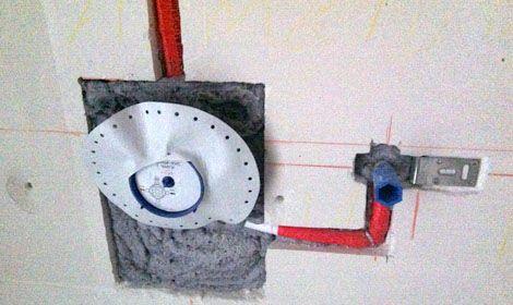 TWand im Bad Installationen Dusche, Wände, Brause