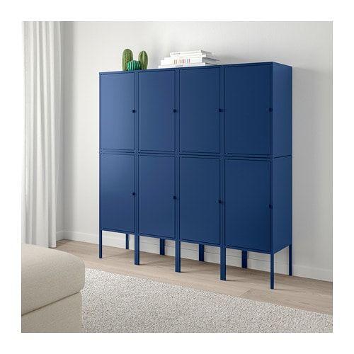 Ikea Lixhult Meuble De Rangement Bleu Foncé Idées Pour