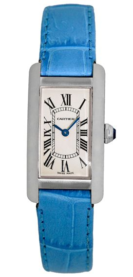 Women's #Cartier Tank Americaine White Gold #Watch
