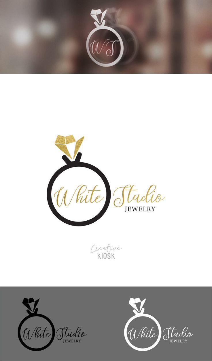 Diamond Ring Logo. Instant Download Logo. DIY Logo Design. Watermark. Jewelry Design Shop Logo. Logo Template. PSD Photoshop File. #0520.