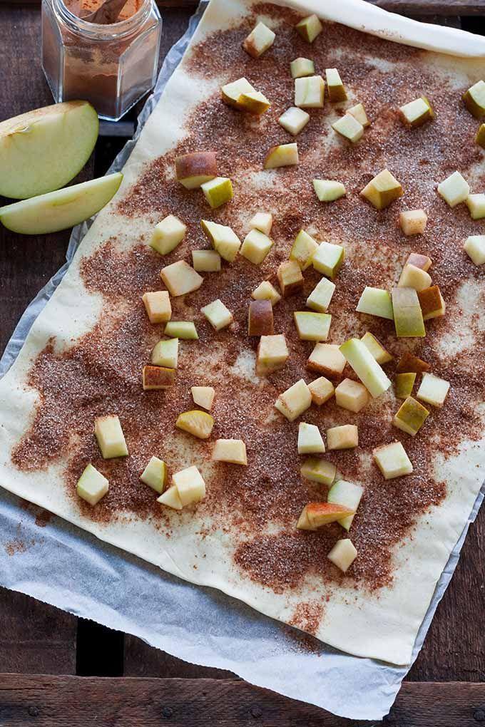 Zimt- und Apfelbrot aus Blätterteig