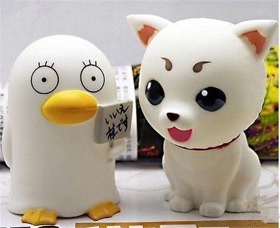 Cute Anime Gintama Sadaharu Elizabeth Plastic Piggy Bank Saving Pot Box Cospaly
