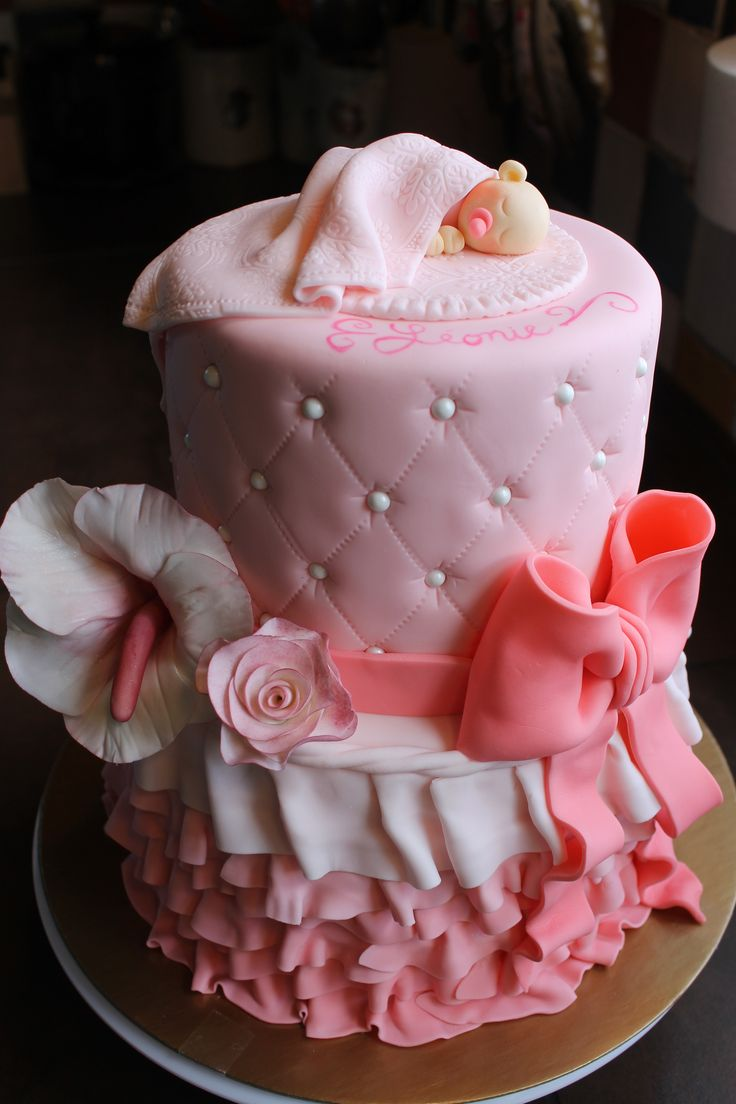 gâteau de shower de bébé fille :)