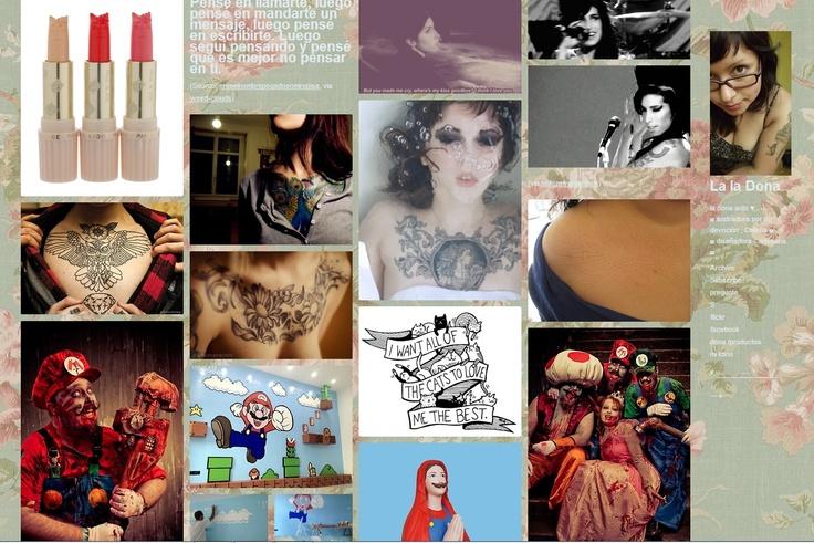 tumblr personal intereses; tatuajes,ilustracion,draw,girls,games,handmade,craft  http://ladonadona.tumblr.com/