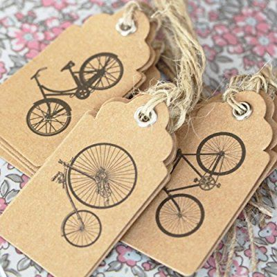 Vintage Style Bicycle Luggage Labels / Gift Tags x 15