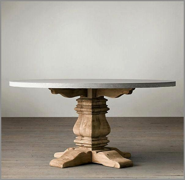 Unique Reclaimed Wood Pedestal Table Ghế Lam Mộc