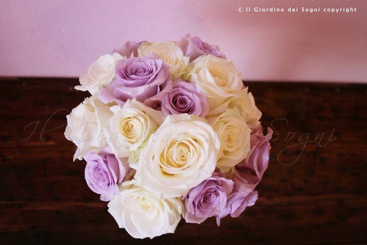 Bride's bouquet - Bouquet della sposa bianco e lilla
