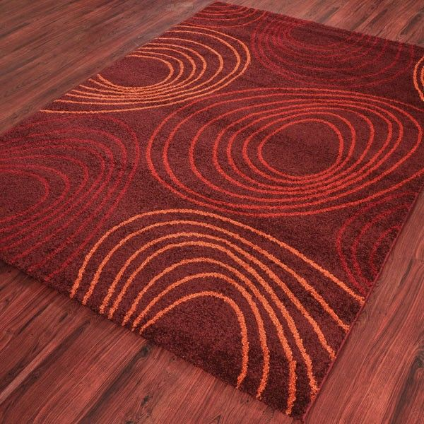 MAROON SPIRAL DESIGNER CARPETS- WELLNESS/4976/8106