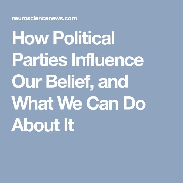How Political Parties Influence Our Belief, and What We Can Do About It